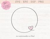 Circle Frame SVG, Heart Frame SVG, Heart Wreath SVG, Heart Wreath Png, Round Frame Svg, Monogram Heart Svg, Monogram Circle Svg, Cut Files