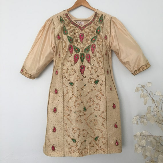 Vintage Indian Handmade  Silk Kaftan