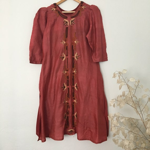 Indian Tunic Vintage Silk Kaftan