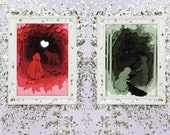 Hansel and Gretel Fairytale Paper Cutout - Art Print - 5x7 or 8x10 Print