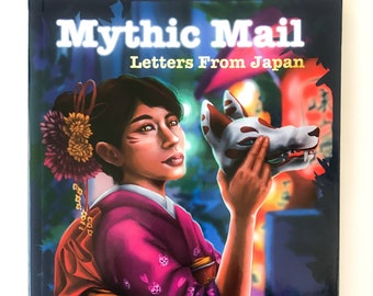 Mythic Mail Letters From Japan - Illustrated Novel indie book featuring yokai, spirits, monsters from Japanese folklore