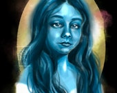 Ghost Girl - Horror Spooky Haunted Macabre - Art Print - 5x7 or 8x10 Print