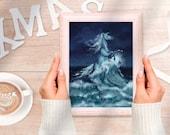Nokk the Horse Water Spirit - Art Painting - Instant Digital Download