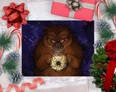 Ursa Edelweiss Bear Galaxy - Art Print - 5x7 or 8x10 Print