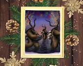 Krampus Perchten Christmas Holiday Parade - Art Print - 5x7 or 8x10 Print