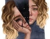 I Feel Split - Art Print - 5x7 or 8x10 Print