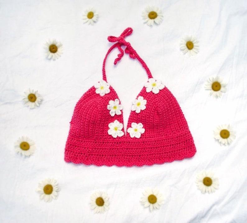 Crocheted Daisy Bralette