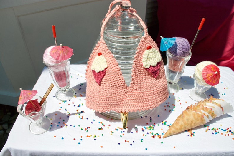 Crocheted Vanilla Ice Cream Bralette