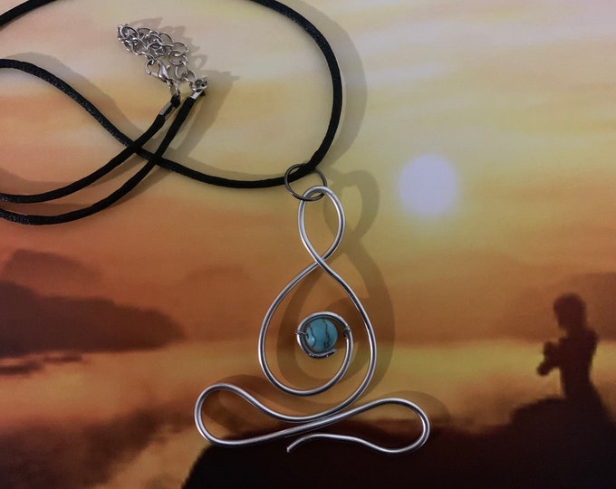 Yoga Chakra Pendant Necklace for women in copper or silver. Handmade. Great gift for yogis.