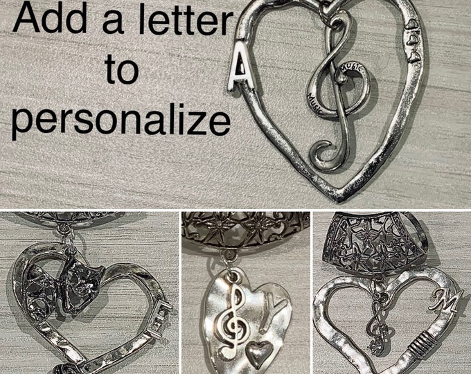 Musical note/theatre mask necklace - Scarf jewelry for women - Scarf slider - Scarf bail - Musical note scarf-Custom scarf bail