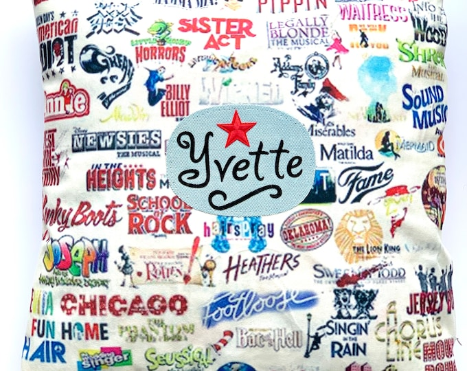 Broadway cushion cover-Custom Gift for musical theatre fans-Performing arts cushion cover-Theatre gift.