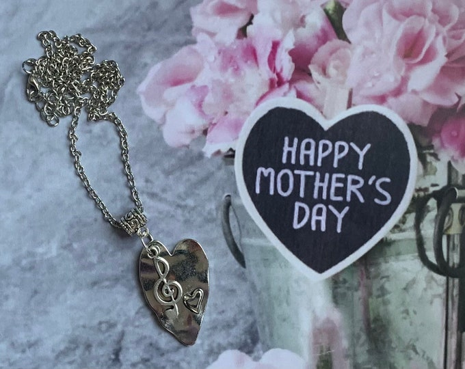 Mothers Day Jewelry-Musical theatre gift - Theatre jewelry- Musical note pendant-Comedy tragedy mask-Drama  gift-Custom jewelry