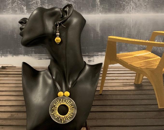 Sun necklace-Adjustable length-Celestial jewelry-Sun pendant-Gold sun necklace-Mothers day gift-Jewelry set for women-Gold sun pendant