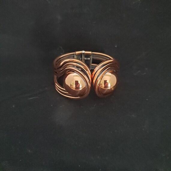 Vintage RETRO MID-CENTURY Hinged Bracelet