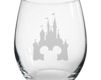Disney Hand Engraved Stitch Large Hi-Ball Glass Valentine Gift Personalised Free