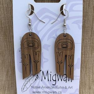 Feather Red Cedar earring