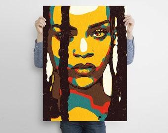 Print Canvas Print Poster Bedroom Art Custom Canvas Print Art Poster Rihanna Poster Canvas Art #3 Gift Poster Rihanna Print Canvas