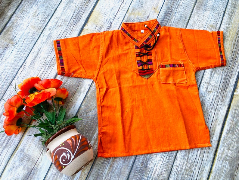 Boy\u2019s Mexican embroidered indigenous shirt
