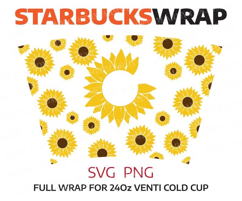 Download Flower svg Sunflower Starbucks cup SVG Sunflower SVG | Etsy