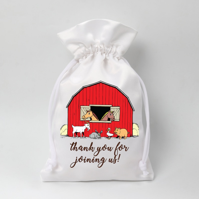 Farm House Party favor bags Eco Friendly Gift Bag Birthday party favor bags Buffet Favor Bags Customized Favor bags Hangover Bags Gift bags