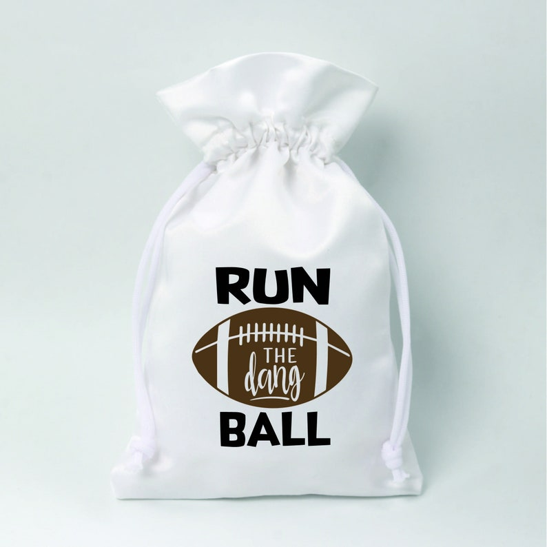 Run The Dang Ball Favor bags Personalized logo print drawstring bags Custom jewelry packaging bags Soap bag wedding bags Custom favor bags