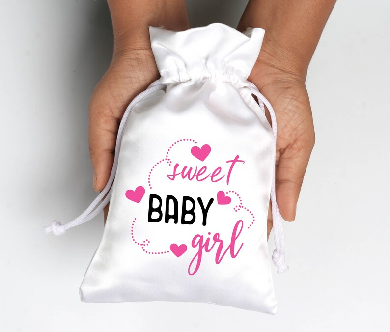 Sweet Baby Girl Favor Bags Cute Baby Shower Candy Buffet Favors Bags Customized Favor bags Hangover Bags Eco Friendly Gift Bag