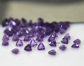 Details about  /5X5MM TO 10X10MM 100/% NATURAL PINK AMETHYST TRILLION CUT FACETED LOOSE GEMSTONE