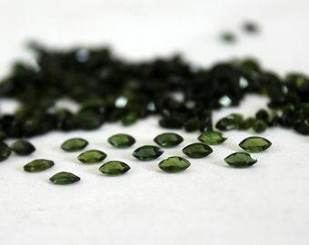 Vintage TOURMALINE Dark Green Faceted Loose Gem Emerald Cut 3.95 cts fg242