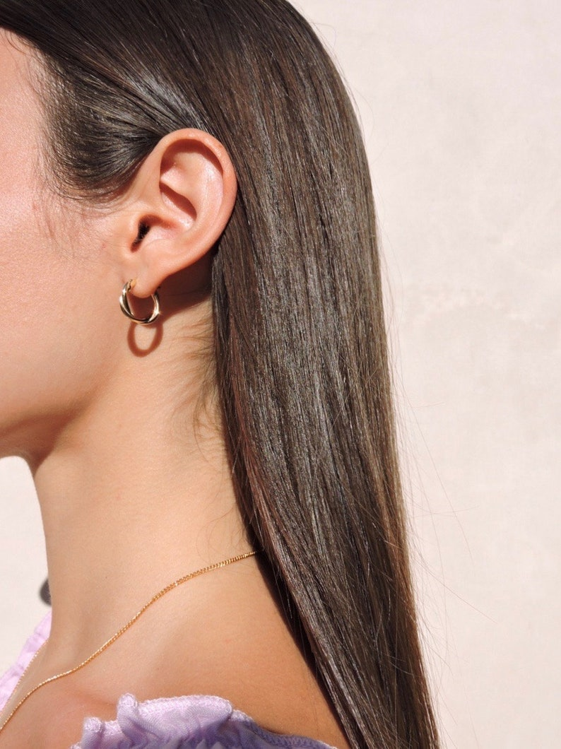 Minimalist Jewelry 18k Gold Plated Earrings Woman/'s Gold Hoops Minimalist Earrings Earrings Gold Earrings Gold hoops Dainty Earrings