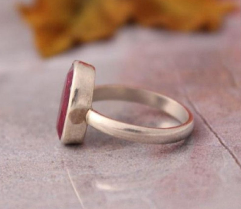 Anniversary Ring,925 Sterling Silver Ring,Typical Handmade Ring Wedding Ring Engagement Ring Gift For Her Ruby Ring Gift Ring