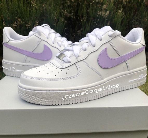 Custom air force 1 Pastel Lilac Purple