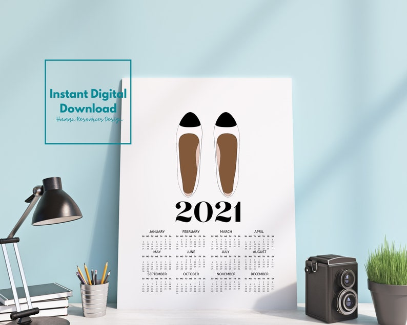 Quick Print 2021 Mini Desk Calendar Cubicle Decor   Etsy