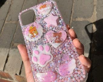 iPhone XS MAX Purple Resin Decoden Phone Case