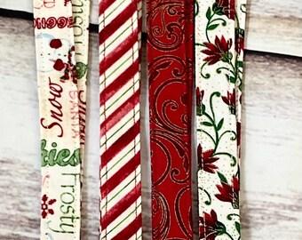 Christmas Snowflake Fabric Teacher Lanyard Id Badge Holder