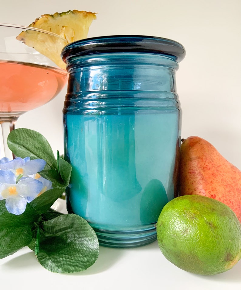 Tropical Scented Candle Fresh Scent Aromatherapy Jamaican Me Crazy Soy Blend Candle