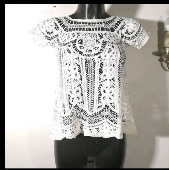 Vintage sweater '30s lace resurgence