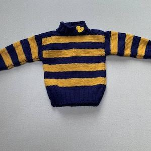 Handmade in UK gift present handmade knit 100/% merino wool baby jumper pulover 0-6m worm and soft on baby skin christening baptism