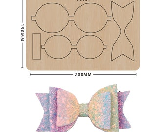 Bowknot Crown Wooden die cutting DIY by hand Wooden mold sizzix die cuts Cutting die Halloween Decoration custom leather stamp Paper model