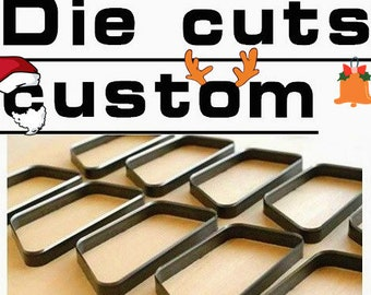 Christmas/Custom Leather Cutting Die Earring / Leather Die Cut / Steel Rule Die / Custom Leather Stamp Tool (Leather / Paper / Plastic)
