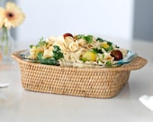 Artifacts Rattan Square Baker Basket with Pyrex