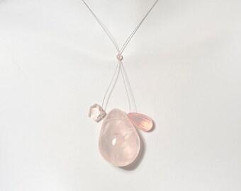 gypsy necklace quartz necklace quartz choker Tiny Quartz Trio healer necklace