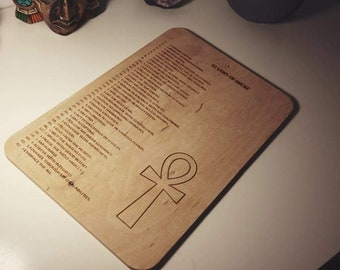 42 Laws of Ma'at Wooden Plate