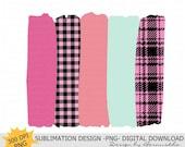 Pink Mint Plaid Brush Strokes Background Sublimation Design, Pink Stroke Background Png, Background Png File For Sublimation,Background