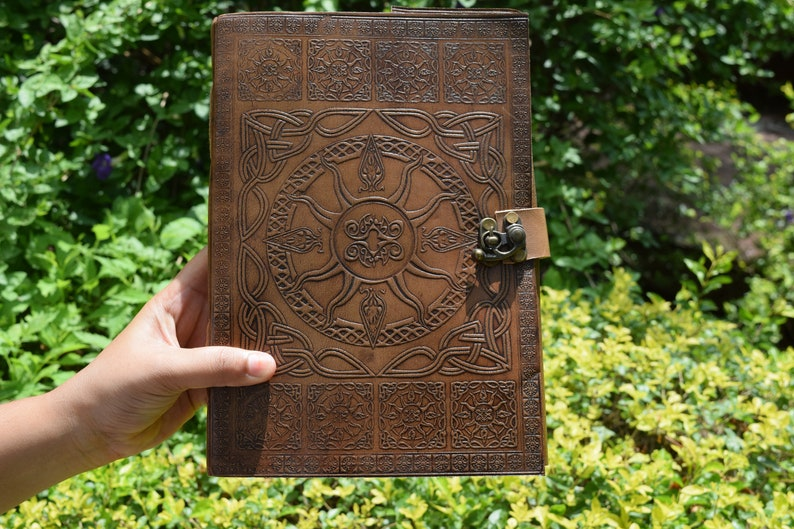 photo of handmade Leather Journal Notebook