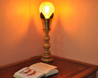 Eccentric Upcycled Antique Base and Cup Light
