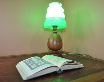 Tree Vintage Art Deco Wooden Lamp