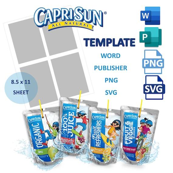 Ninjago birthday capri sun label Drink pouch label Birthday party digital Template Caprisun label template Juice pouch labels