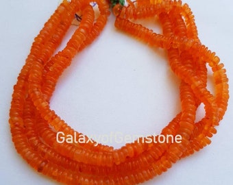 AAA Quality Natural Carnelian Heishi Beads Size 5-6MM 16 inch strand Approx