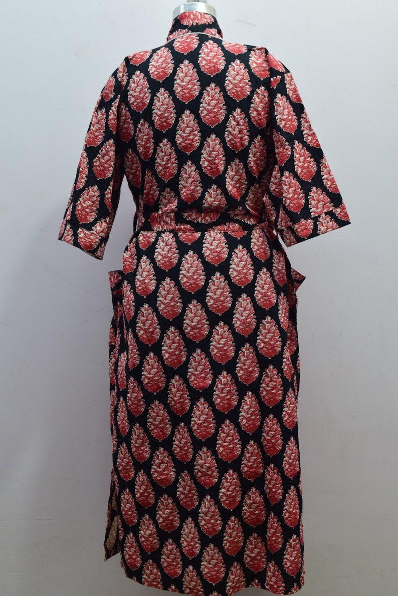 bridesmaid kimono robe Indian floral gown Block print robes Beautiful bridal kimono floral kimono printed organic Indian floral robe