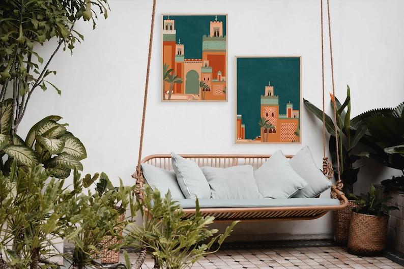 6 Moroccan Architecture/Morocco Print/Colorful image 0
